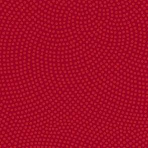 Fibonacci-flower polkadots - ruby red