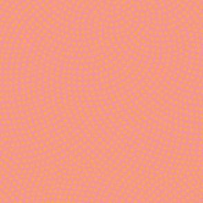 Fibonacci-flower polkadots - creamsicle