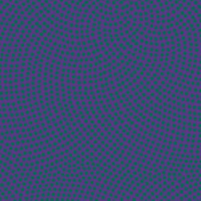 Fibonacci-flower polkadots - green on purple