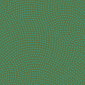 Fibonacci-scallop polkadots - teal on olive
