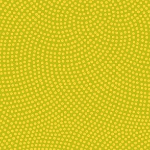 Fibonacci-flower polkadots - yellow on wasabi