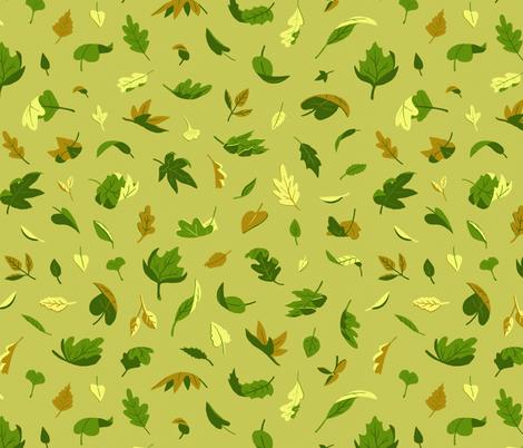 Early Autumn Leaves fabric by caleb_luke_lin on Spoonflower - custom fabric