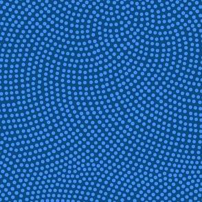 Fibonacci-flower polkadots - bedtime blue