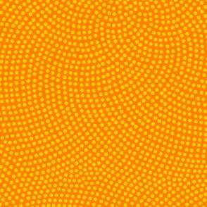 Fibonacci-flower polkadots - saffron and yellow
