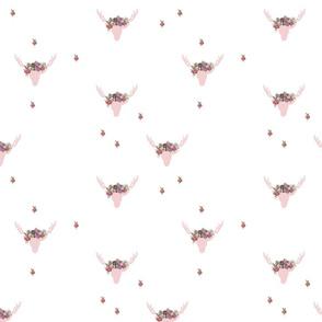 Floral Deer Skull Scatter