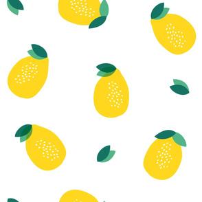 Yellow lemons summer citrus lemonade fruit