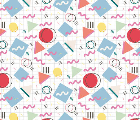 memphis-style fabric by pixabo on Spoonflower - custom fabric