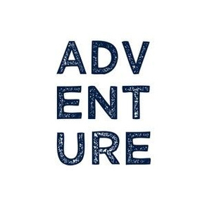 "adventure quilt block (6"") - navy"