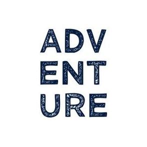 """adventure quilt block (6"""") - navy"""