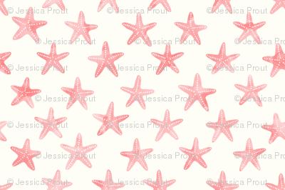 (small scale) starfish - mermaid coordinate (warm) peach