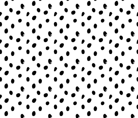 Black and white spots abstract geometric scandinavian pattern fabric by paperandpickles on Spoonflower - custom fabric