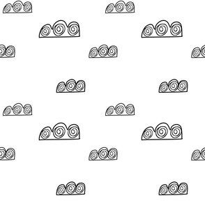 Clouds in the sky weather pattern for kids
