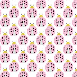 Pink ladybug garden ladybird cute kids pattern