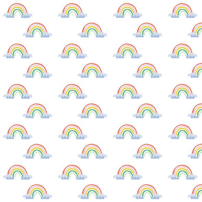 Rainbow magical pattern cute illustration for kids