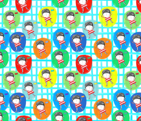 bubble boys fabric by stamptout on Spoonflower - custom fabric