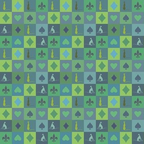 greyhound mosaik, green, blue