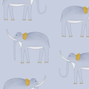 Rumbled Jungle Elephant (Grey)