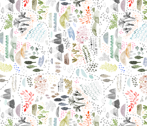 Ecosystem Map fabric by katievernon on Spoonflower - custom fabric