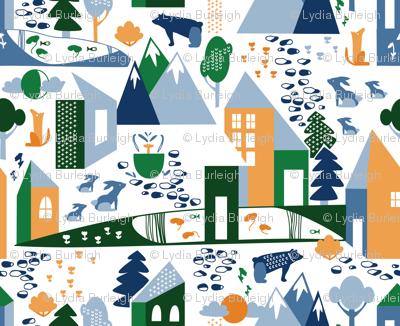 Nordic Village in greens