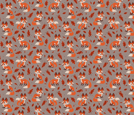 Fall Foxes fabric by therewillbecute on Spoonflower - custom fabric