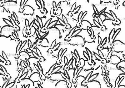 Black painted bunnies black rabbits black bunny