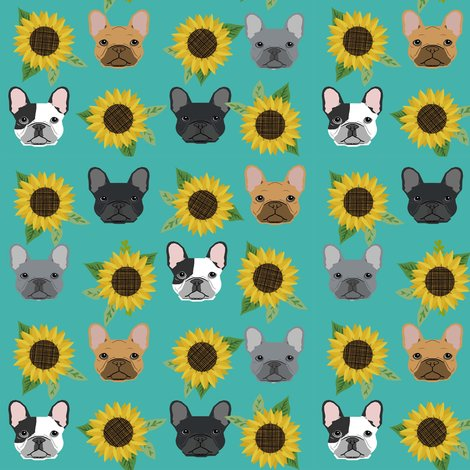 Rfrenchie_sunflower_turq_shop_preview