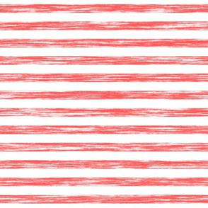 Stripes Grunge Pencil Charcoal Red on White