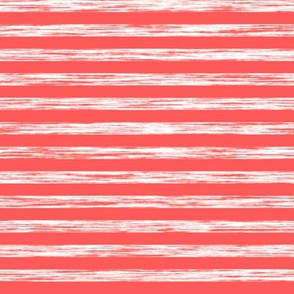 Stripes Grunge Pencil Charcoal White on Red