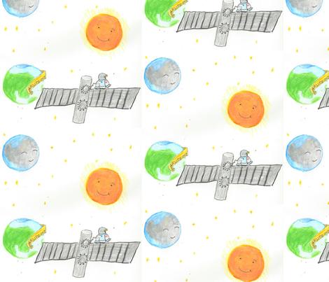I got my solar eclipse glasses! fabric by rcmzstudio on Spoonflower - custom fabric