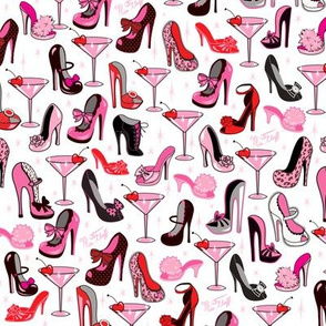 Retro Shoes and Pink Martinis- Small