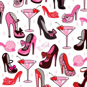 Retro Shoes and Pink Martinis- Medium