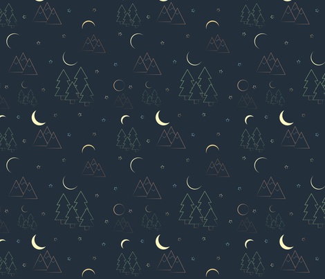 Eclipse  fabric by svaeth on Spoonflower - custom fabric