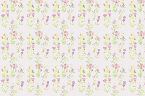 Sweet_Peas__basic_repeat fabric by wildflowerfabrics on Spoonflower - custom fabric