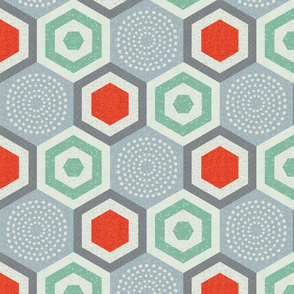 hexagon 7-mid century modern
