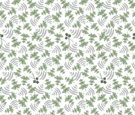 Lady Fern fabric by frumafar on Spoonflower - custom fabric