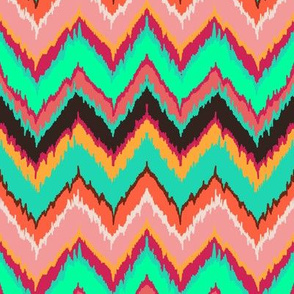 Bohemian flame stitch chevron
