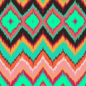 Ikat chevron diamonds
