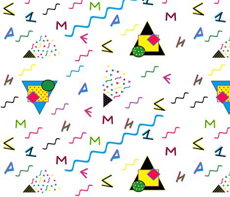 Memphis_Style_Alphabet fabric by hobbitrosie on Spoonflower - custom fabric