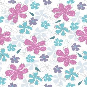 Spotty Floral Magenta
