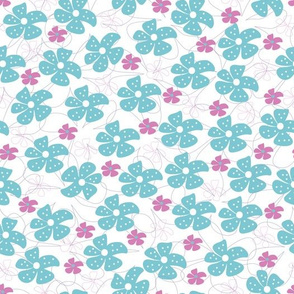 Ditsy Floral Teal