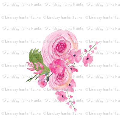 Sweet Roses Floral Pink