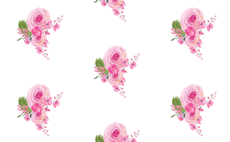 Sweet Roses Floral Pink fabric by twodreamsshop on Spoonflower - custom fabric