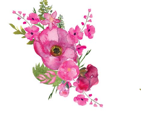 Magenta_Floral-01 fabric by twodreamsshop on Spoonflower - custom fabric