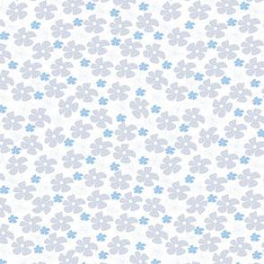 Ditsy Floral Grey