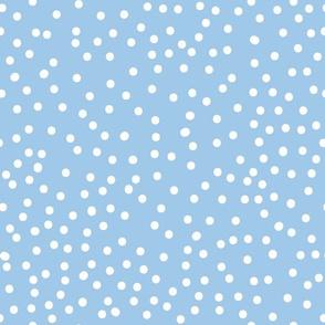Random Spots Sky Blue