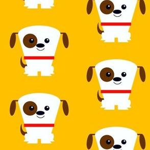 Puppy Dog on Orange