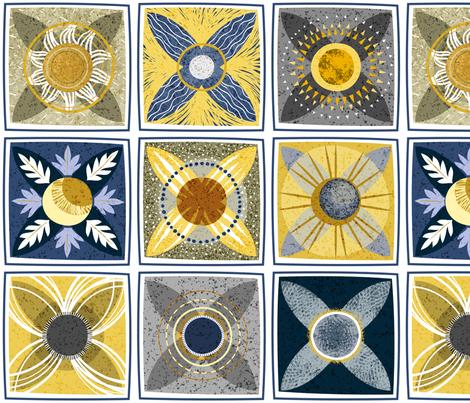 Sun dance Moon shadow fabric by stitchyrichie on Spoonflower - custom fabric
