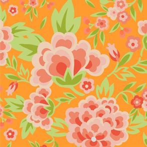 A bright floral pattern