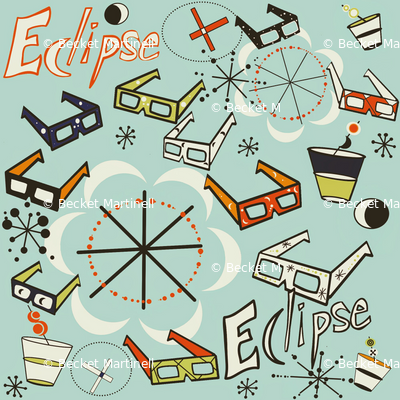 Eclipse Party pale blue sewindigo