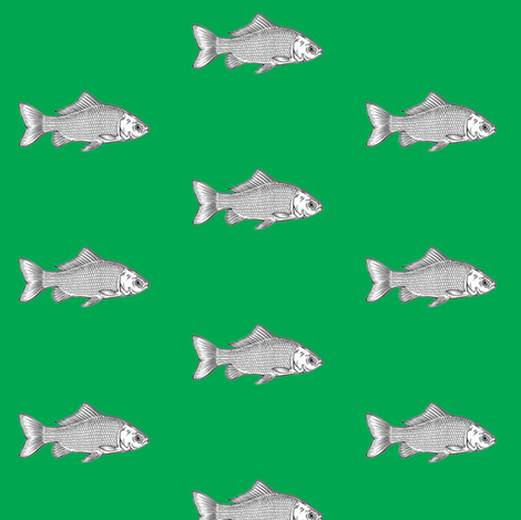 Fish_Gn fabric by cariannehamilton on Spoonflower - custom fabric